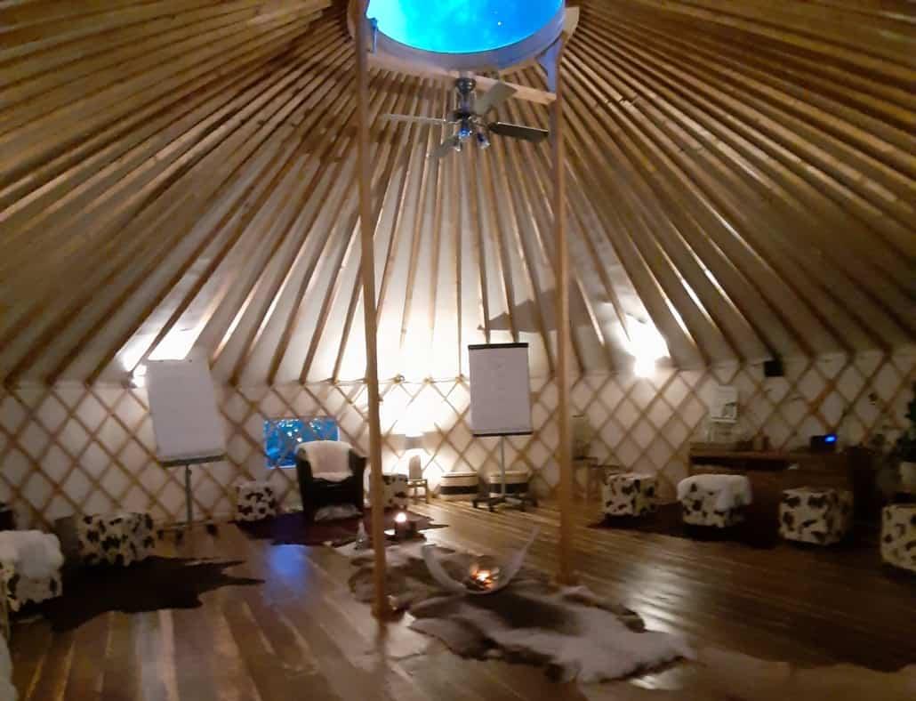 Erlebnis- und Seminarraum der besonderen Art – die EnergieJURTE
